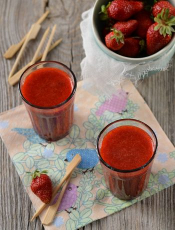 Soupe de fraise à la menthe