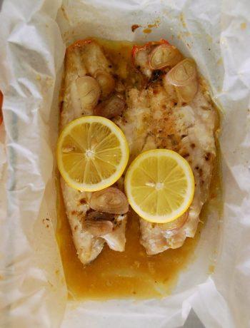 Papillotte de poissons au citron