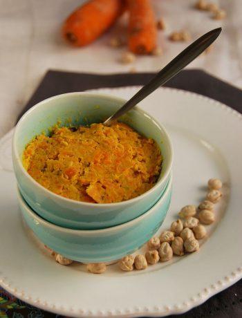 Tartinade de carottes rôties façon houmous