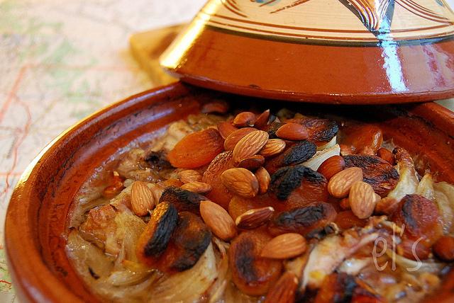 recette Tajine au four poulet abricot amande