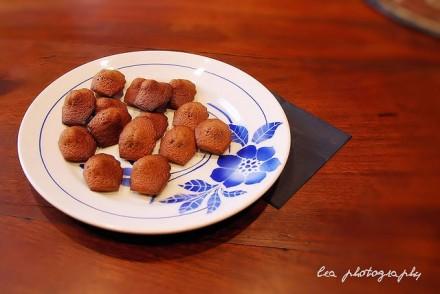 Mini madeleine au nutella