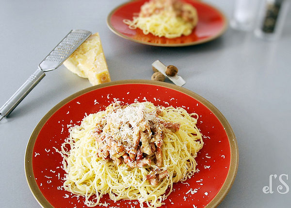 Pâtes à la carbo – Spaghetti carbonara