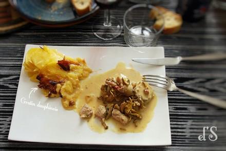 Filet mignon moutarde et champignons