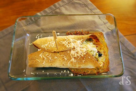 Tacos aux poireaux, pruneaux et lardons