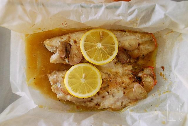 Papillotte de poisson au citron