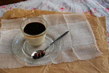 Panna cotta café et coulis d'expresso