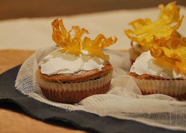 Cupcakes au chèvre et fleur d'ananas