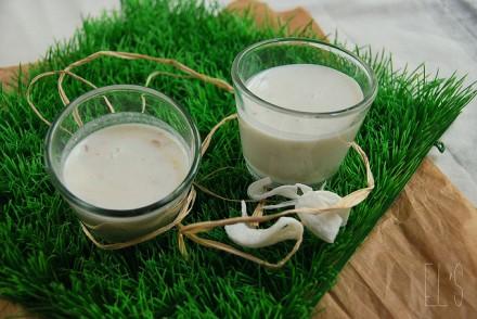 Blanc manger coco au litchi et gingembre