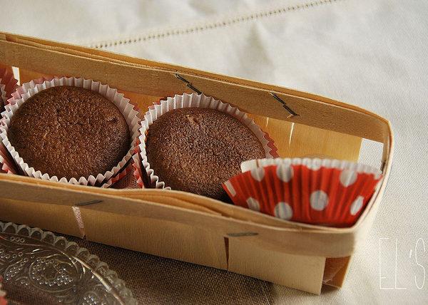 Fondant au chocolat et crème de marron