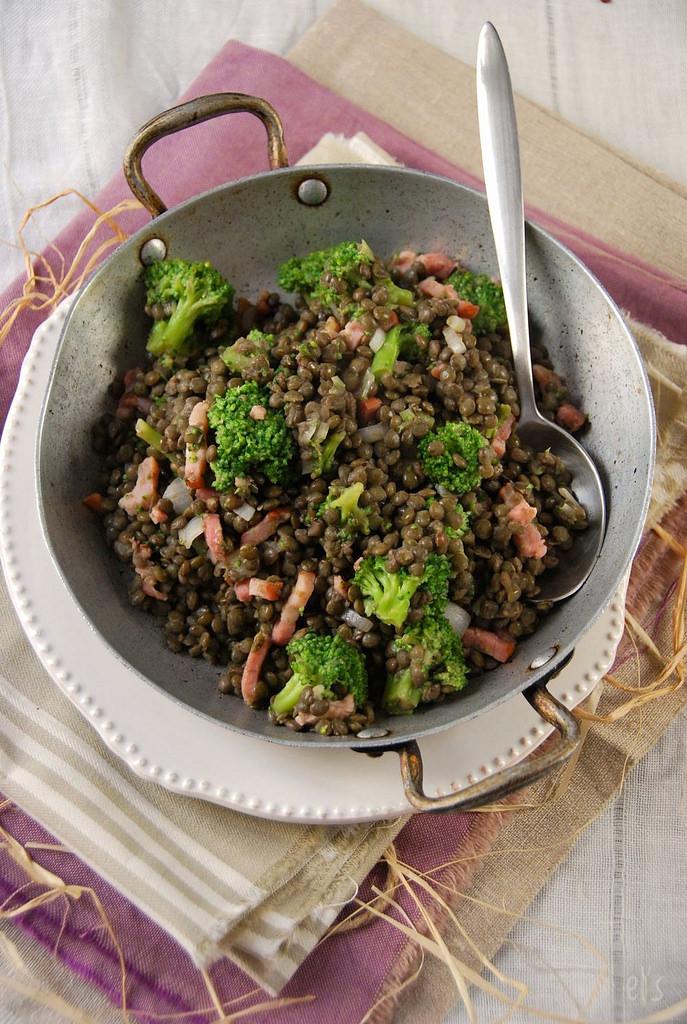 Lentilles vertes au brocoli en salade recette tangerine zest - Comment cuisiner les lentilles vertes ...