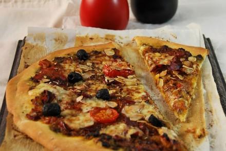 Recette Pizza au pesto et fromage de brebis