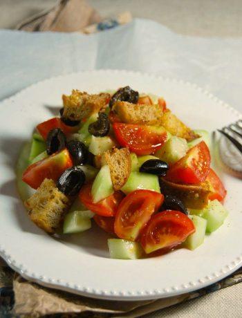 Panzanella tomate concombre
