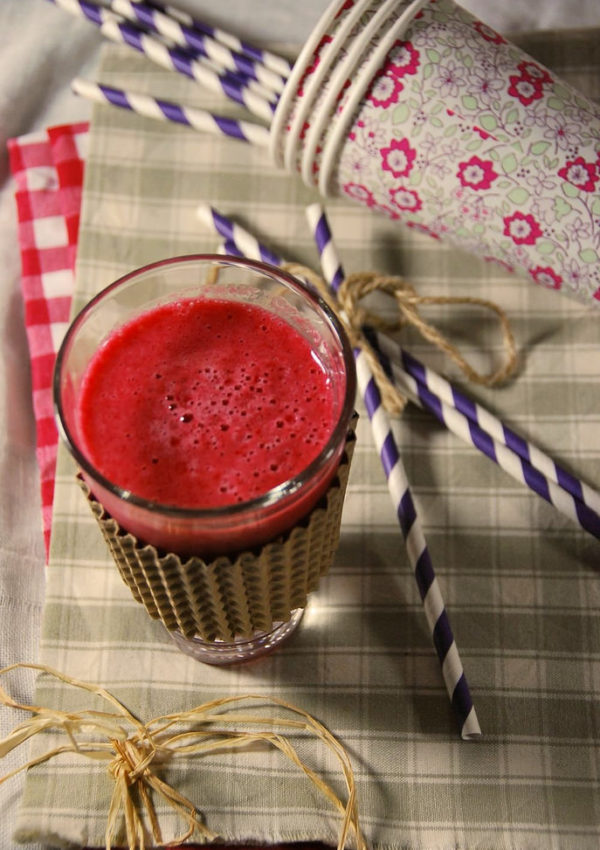 Smoothie framboise pamplemousse