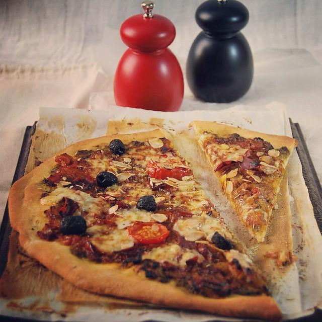 Petite pizza faite maison sur le blog