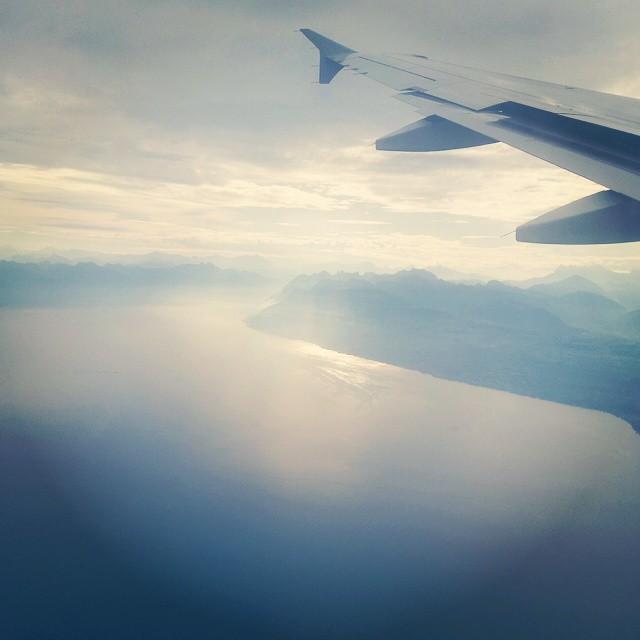 Retour de vacances avec une superbe vue sur le #lac #léman et les #alpes