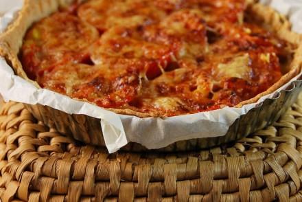 Tarte thon, tomate et moutarde