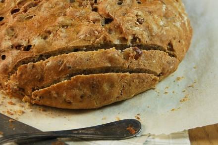 Pain aux noix et farine multi-céréales
