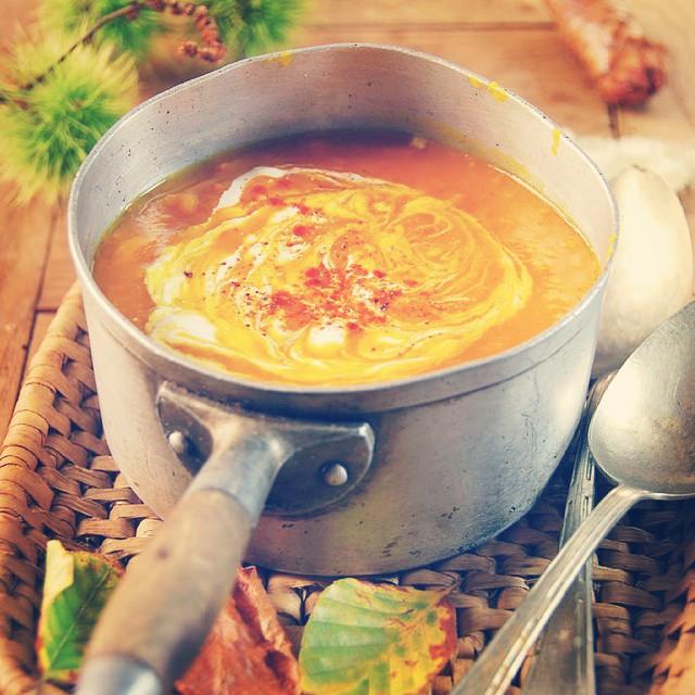 Ce soir on se fait une bonne soupe veloutée au potimarron
