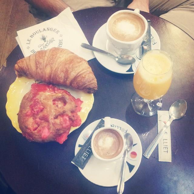 Petit déjeuner aux halles de Lyon ♡