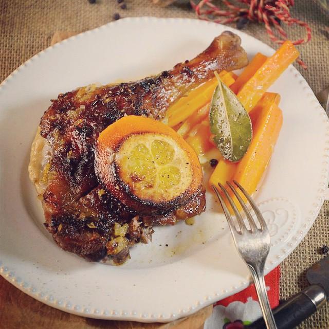 Aujourd'hui, cest canard au four, à l'orange et au cidre