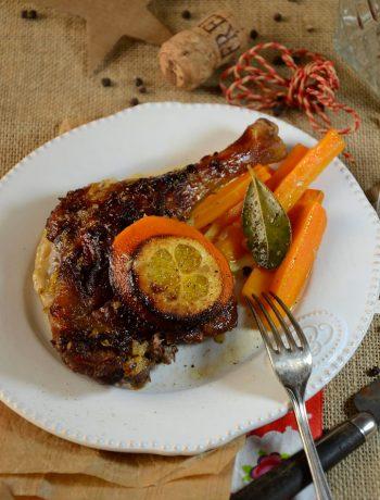 Cuisse de canard à l'orange et au cidre