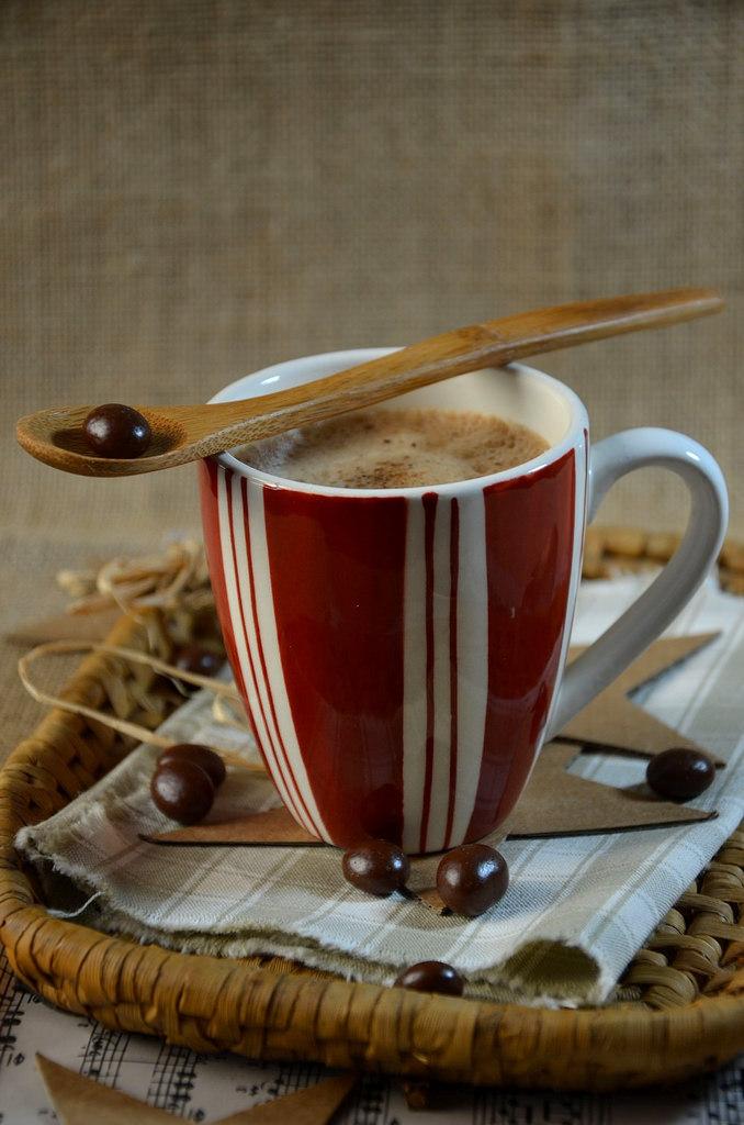 smoothie chocolat caf au lait d 39 amande recette tangerine zest. Black Bedroom Furniture Sets. Home Design Ideas