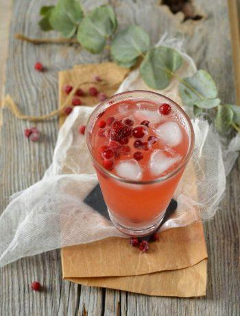 Cocktail sans alcool aux cranberries et citron vert detox