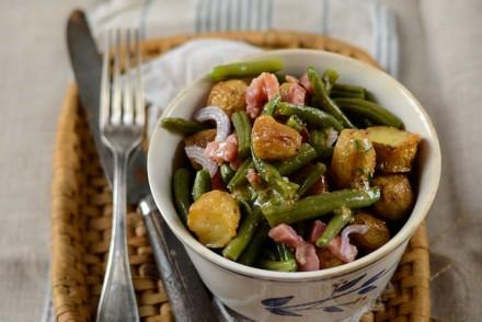 Salade de pommes de terre nouvelles et haricots verts