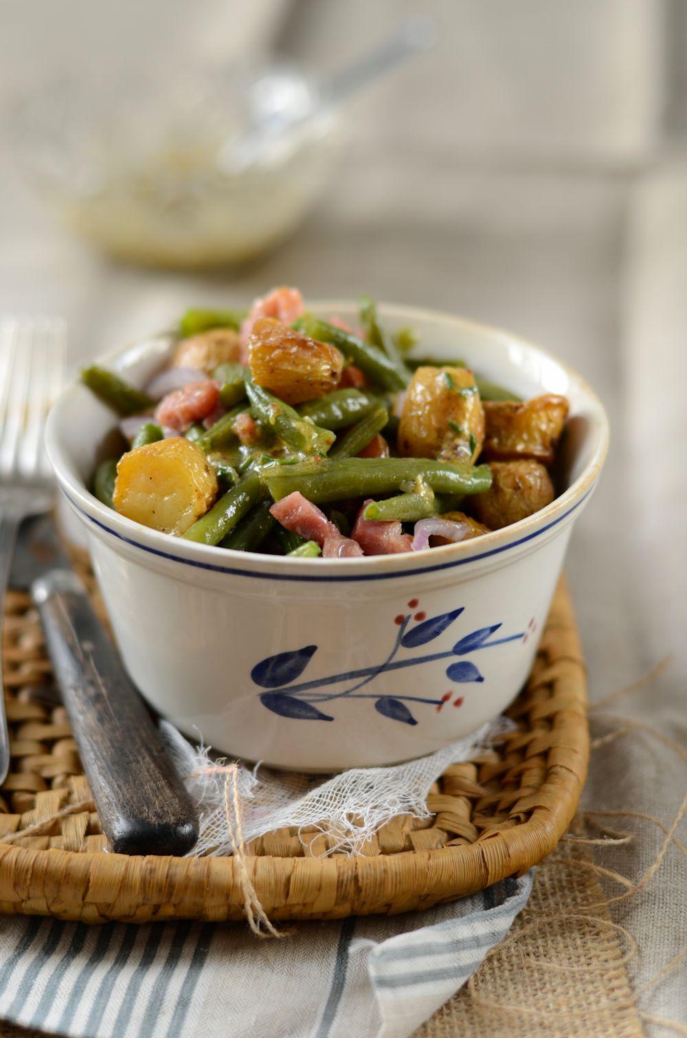 salade de pommes de terre nouvelles et haricots verts recette. Black Bedroom Furniture Sets. Home Design Ideas