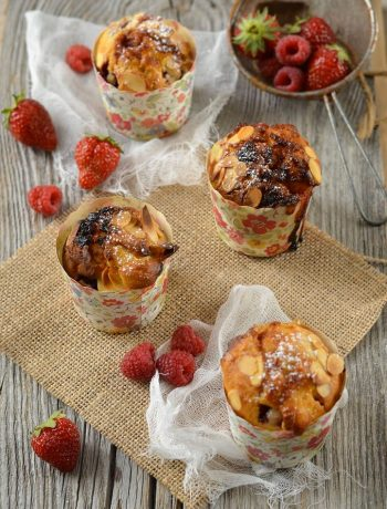 Muffins fruits rouges et chocolat blanc