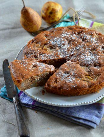 Gâteau aux poires et noix {trop trop bon}