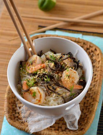 Salade de vermicelle et porc façon Thaï