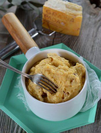 Polenta crémeuse aux champignons et fromage