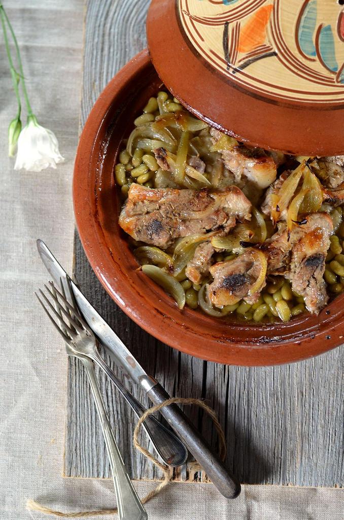 Tajine d 39 agneau au four aux flageolets recette tangerine zest - Cuisson tajine au four ...