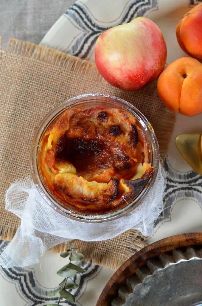Clafoutis aux abricots et nectarines