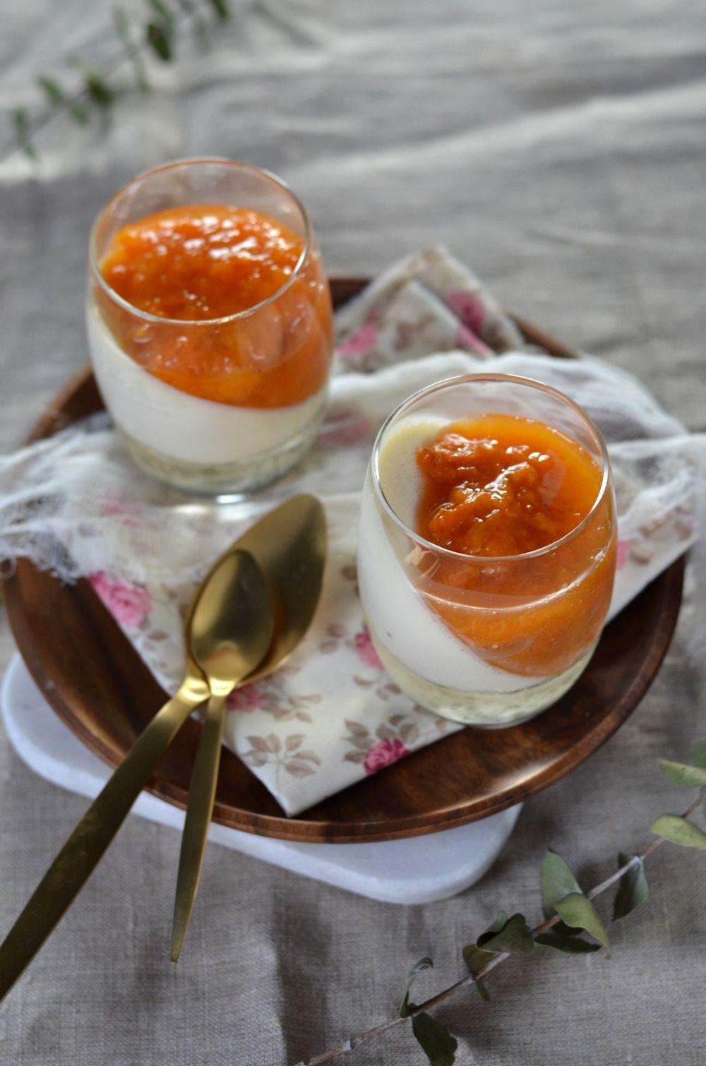 panna cotta mascarpone compotée abricot