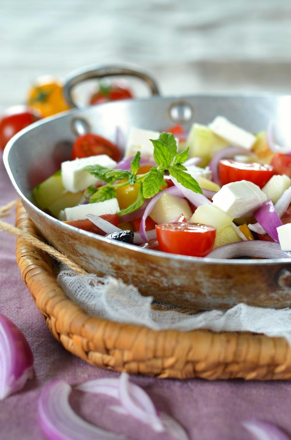 salade la grecque maison recette tangerine zest. Black Bedroom Furniture Sets. Home Design Ideas