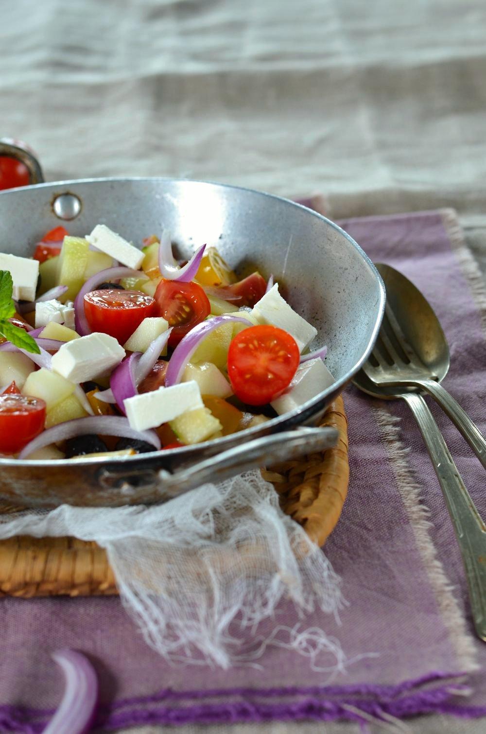 Salade à la grecque maison