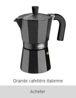 Boutique Cafetière italienne noire 12 tasses