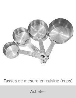 Boutique Tasses de cuisine à mesurer cups