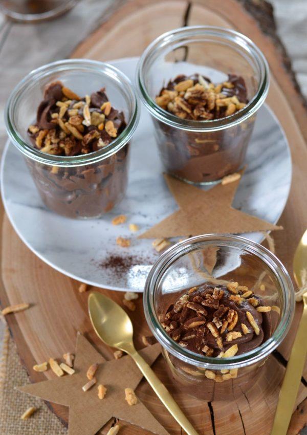 Mousse au mascarpone, cacao et amandes {sans oeuf}