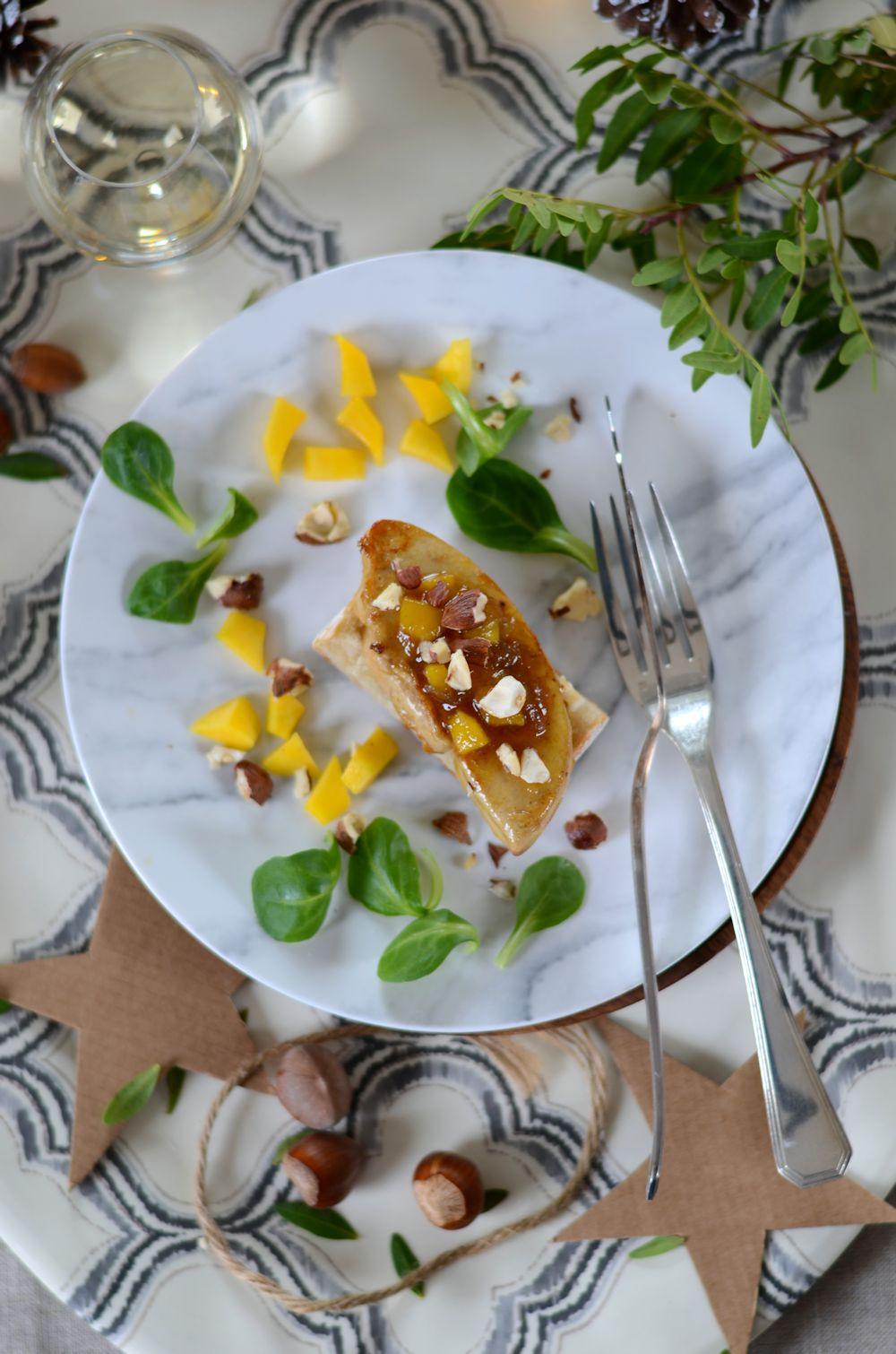 Foie gras poêlée et chutney de mangue