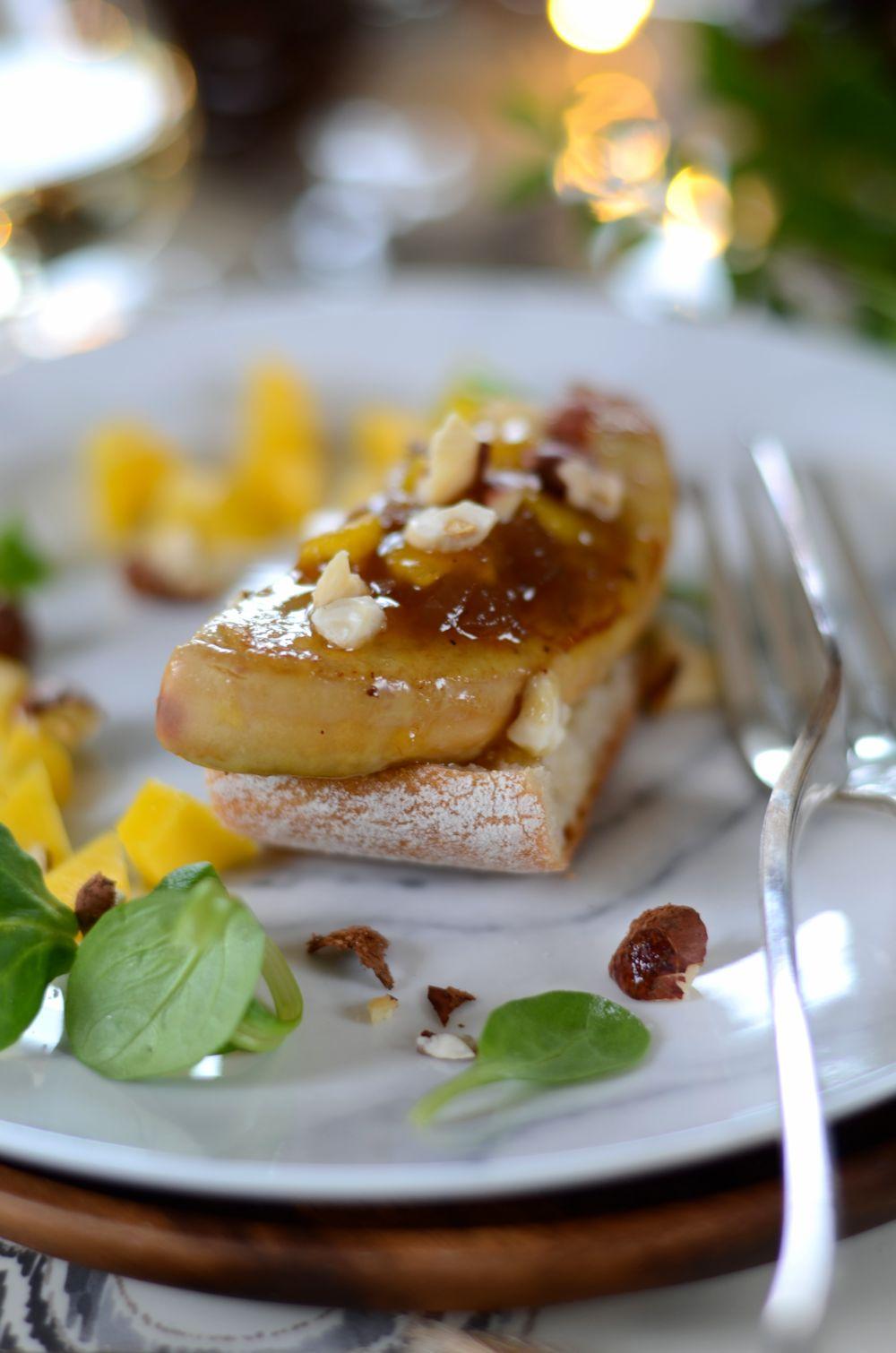 Escalope de foie gras poêlée et chutney de mangue