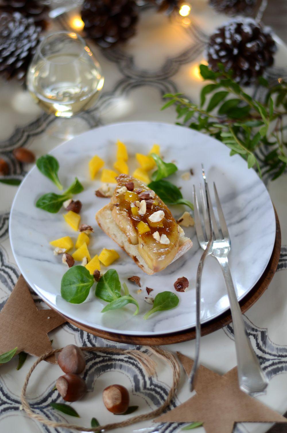 Escalope de foie gras poêlé et chutney de mangue