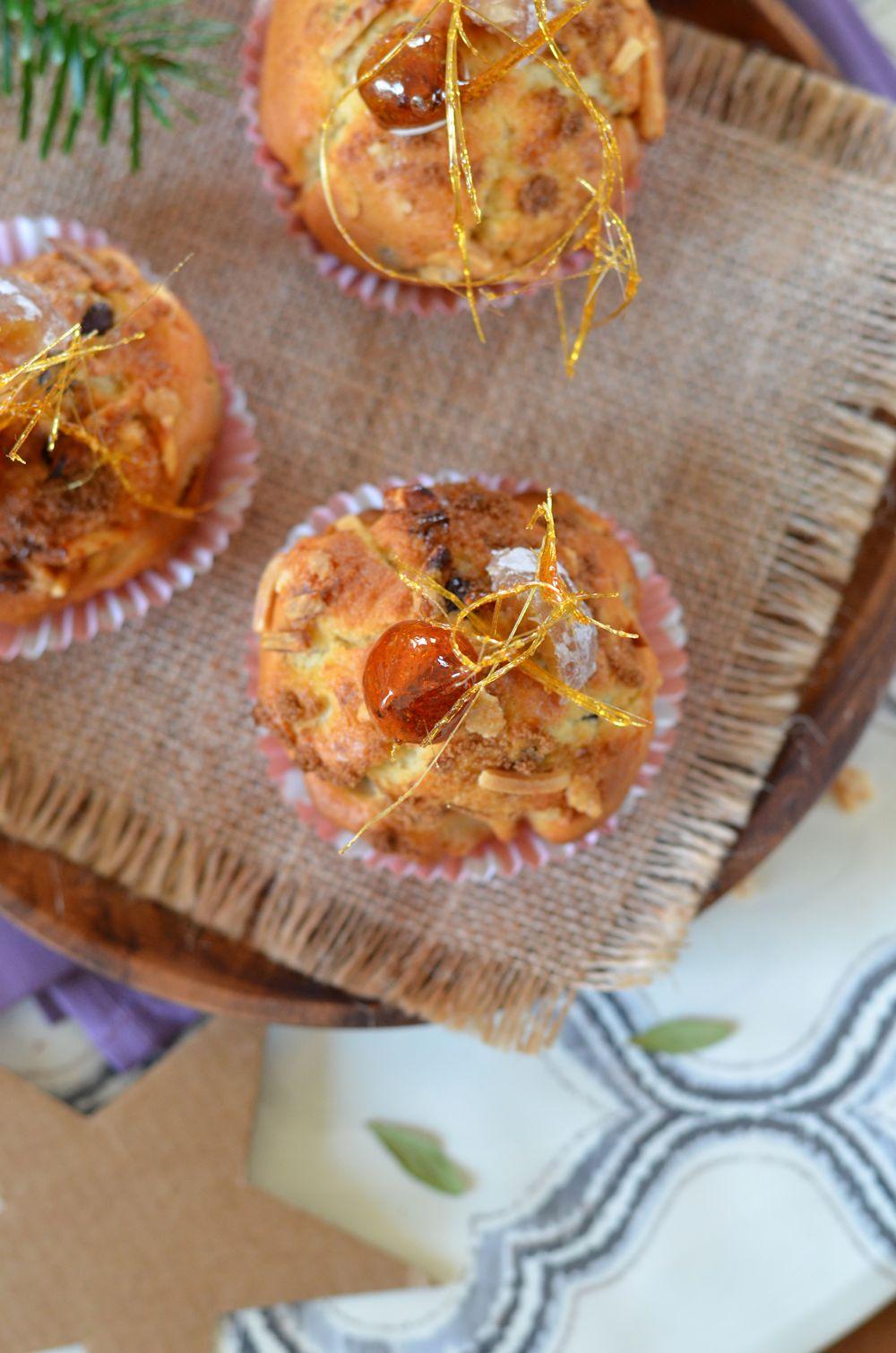 Muffins à la crème de marron et marron glacé