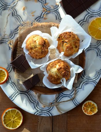 Muffins au chocolat et zestes d'orange