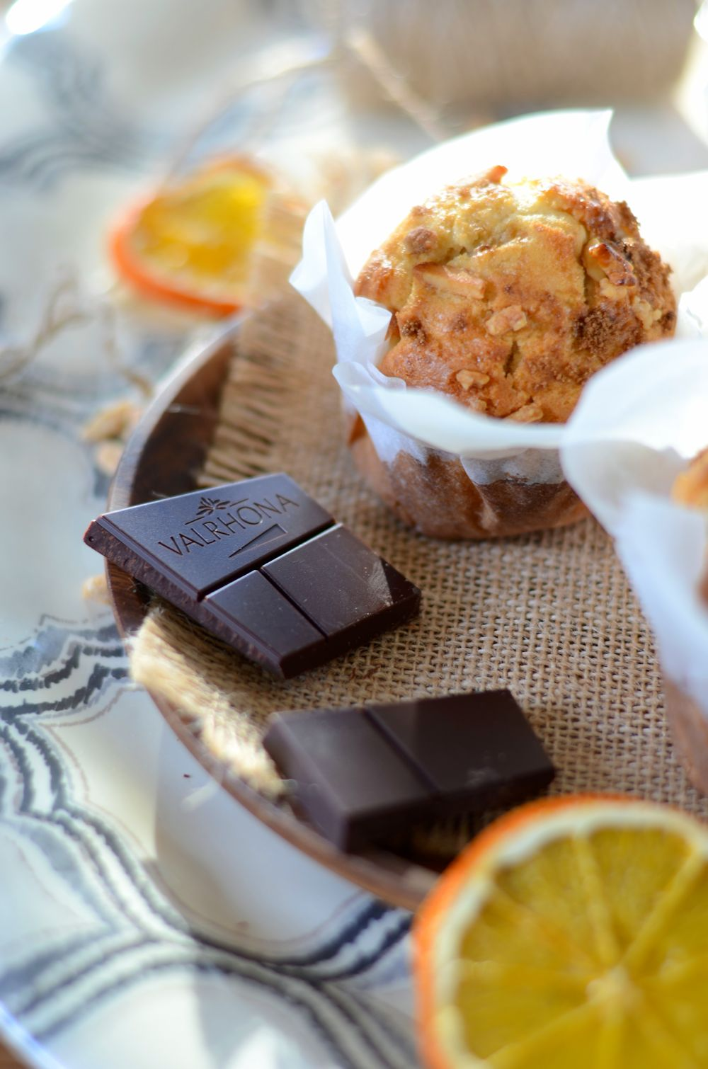 Muffins au chocolat et zestes d'orange
