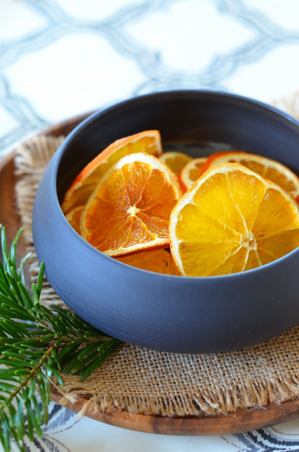 Oranges sliced dried in the oven {decoration or dining}