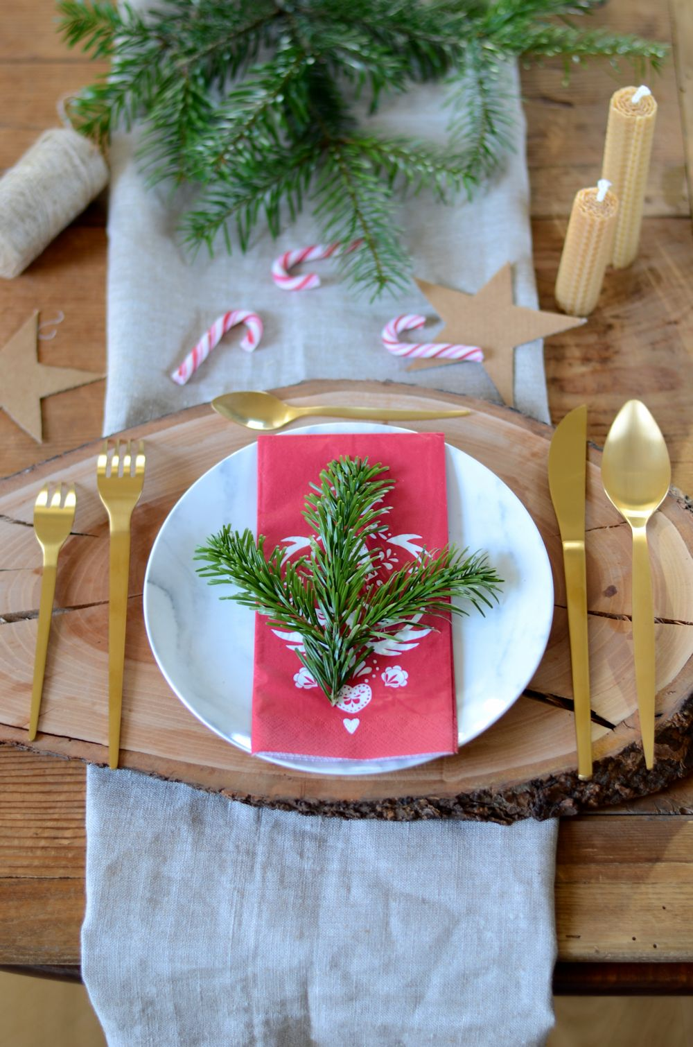Table de fête Noël