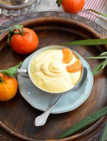 Yaourt glacé à la mangue et clémentine